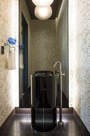 Vessel Pedestal Sink Denver Modern Pedestal Sink Powder Room Contemporary With Glass