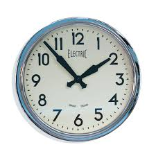 contemporary kitchen wall clock newgate chrome fifties style wall