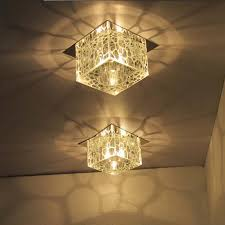 Hallway Ceiling Light Fixtures Modern 5 Square Water Cube Ceiling Ls Hallway Flush