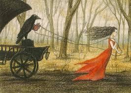 spirit halloween billings mt 5x7 print of painting raven crow ryta gothic art magic folk