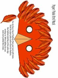 turkey clipart mask pencil and in color turkey clipart mask