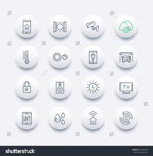 smart house technology system line icons stock vector 524695753
