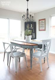 dining table with metal chairs painted dining table finally the golden sycamore