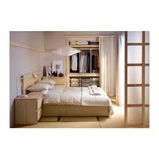 chambre chene blanchi malm cadre lit haut 4rgt plaqué chêne blanchi luröy lit haut