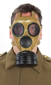 Gas Mask Halloween Costume Mens Ww2 Brown Gas Mask Halloween Fancy Dress Costume