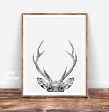 nursery decor printable gift deer print home decor
