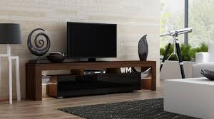 amazon com tv stand milano 200 walnut line modern led tv