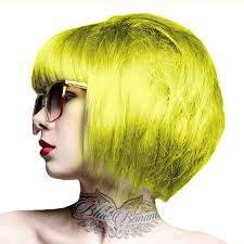 crazy color semi permanent canary yellow colour hair dye 100ml