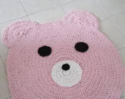nursery rug bear rug beige pom pom rug nursery rug nursery decor