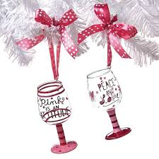 wine glass christmas ornaments wine glass christmas tree ornaments best present mini wine