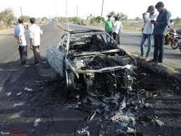 bmw m3 crash 2 dead car burnt team bhp