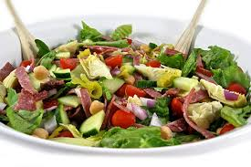Main Dish Salad - skinny and hearty antipasto main course salad with weight