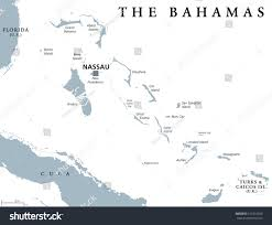 Middle East Map With Capitals by Bahamas Political Map Capital Nassau Commonwealth Stock Vector