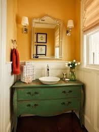 Antique Dresser Vanity Renovated Farmhouse Bathroom With Dresser Vanity By The House On