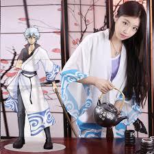 Clock Halloween Costume Gintama Fan Art Sakata Gintoki Cosplay Cloak Chiffon Clock