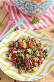 salade verte cuite recette cuisine salade de lentilles vertes aux petits légumes