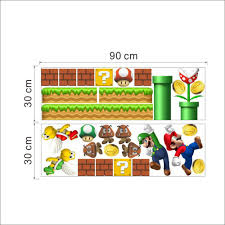 Super Mario Home Decor Super Mario 3d Wall Stickers For Kids Room Liviing Room Bedroom