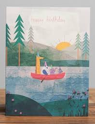 four in a canoe birthday card the eric carle museum of picture