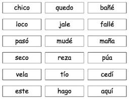 cv v vc syllable seg cards cv vc v reading lectura en español