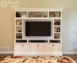 tv wall cabinet downright simple diy tv built in wall unit