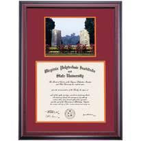 virginia tech diploma frame virginia tech graduation diploma frames by college ocm