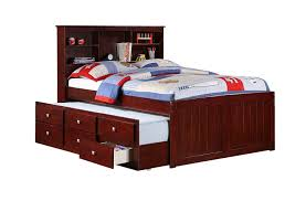 Pictures Of Trundle Beds Amazon Com Full Mission Captains Cappucino Bookcase Trundle Bed