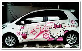 gambar motif cutting sticker mobil terbaru nge trend