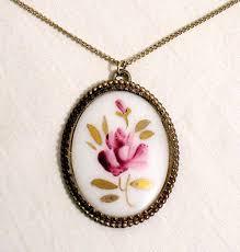 vintage necklace pendants images Super cool vintage pendant necklace round cut diamond multi stone jpg
