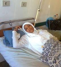 handcuffed to bed egyptian political prisoner hanady ahmad handcuffed during surgery