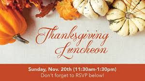 the loft thanksgiving luncheon sunday november 20th