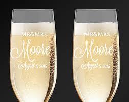 wedding gift glasses wedding glasses etsy