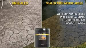 how to seal patio pavers how to apply the armor ar350 solvent based acrylic sealer to