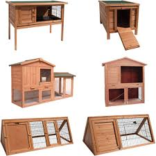Pet Hutch Pet Hutch Large Tiered Double Brown Wooden Rabbit Animal Guinea