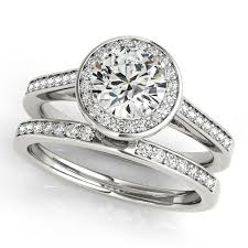 moissanite wedding sets 1 5 ct moissanite wedding set engagement ring and wedding band