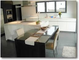 cuisine ilot table modele cuisine avec ilot central table inspirations et idee
