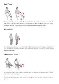 Chair Resistance Band Exercises Resistance Band Exercises Bhf