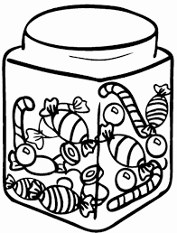 coloring pages candy affordable outline with clip art christmas