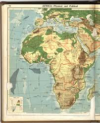 Physical Africa Map by Africa 1923