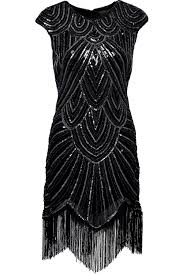 Great Gatsby Women S Clothing Babeyond Women U0027s Flapper Dresses 1920s Beaded Fringed Great Gatsby