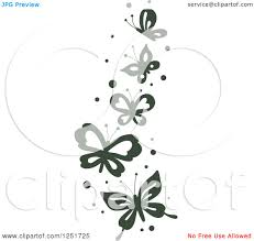 clipart of a borer of flying butterflies royalty free