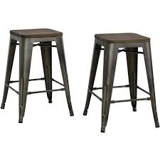 Industrial Counter Stools Dorel Home Products Fusion 24