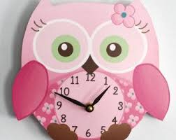 horloge chambre bébé horloge murale en bois petit hibou doux pour les filles chambre bébé