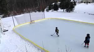 Backyard Hockey Rink by Backyard Ice Rink Kit