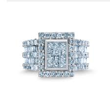 sears engagement rings 3 cttw engagement ring shimmering sparkling style from