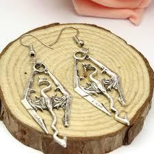 skyrim earrings skyrim antique silver rhombus drop earrings jagfox