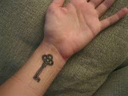 key on left wrist