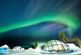 sleep under the northern lights see the northern lights from a glass igloo in the middle of the