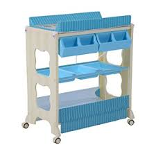 Blue Changing Table Homcom Baby Changing Table Station Portable Changer Baby Storage
