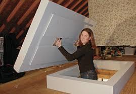 insulating attic stairs fine homebuilding