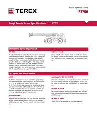 especificaciones tecnicas terex rt775 transmission mechanics